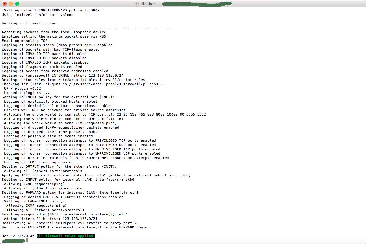 Install And Configure Arno Iptables On Ubuntu 14.04