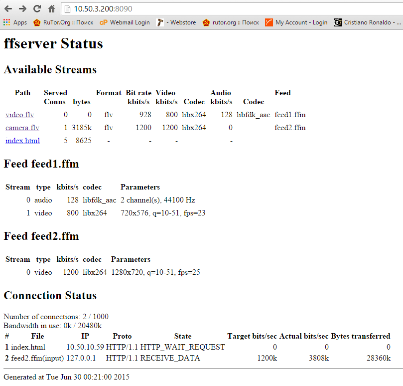 second-status-page