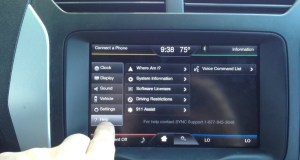 my ford touch black screen