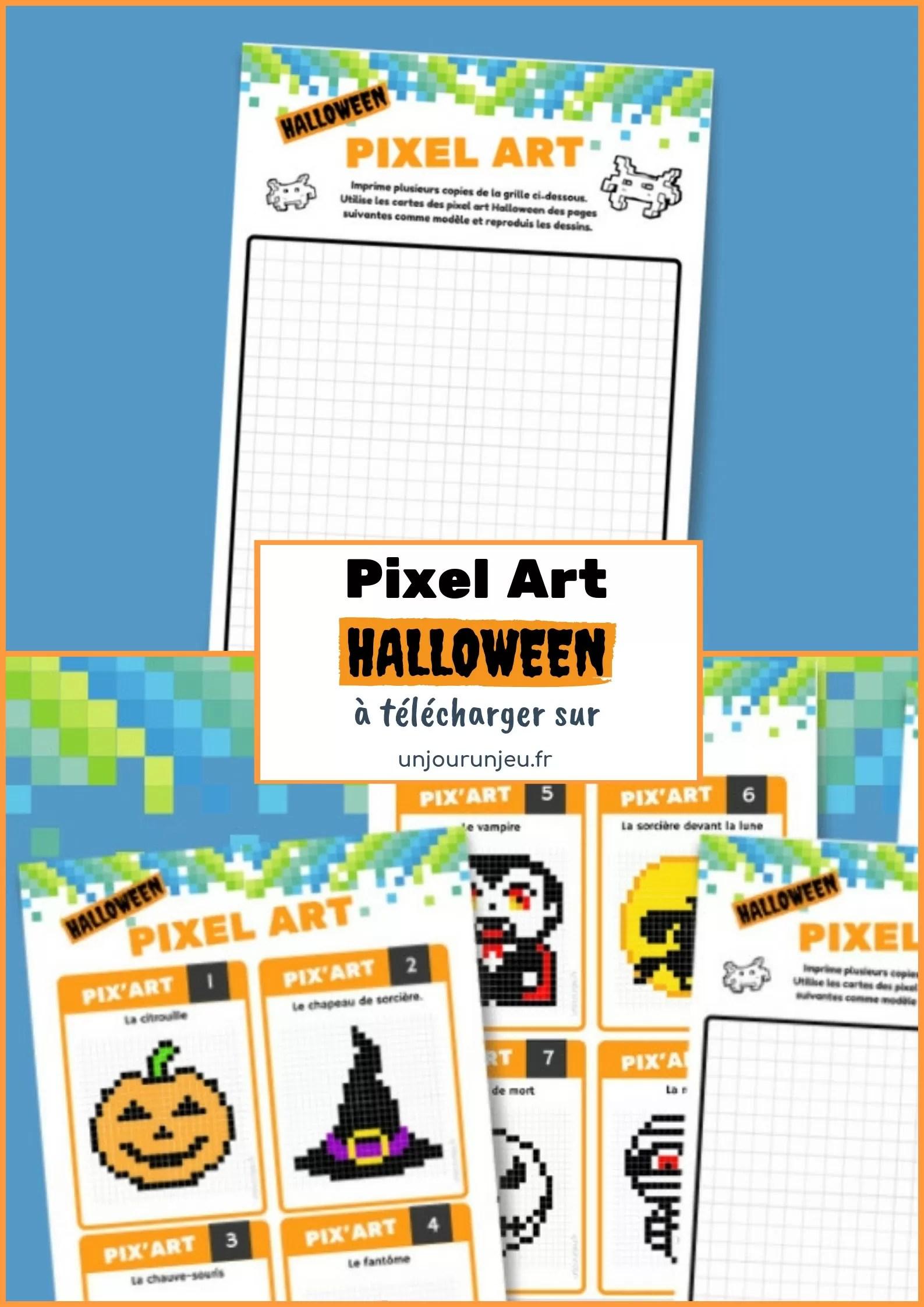 10 Fiches De Pixel Art D Halloween A Telecharger Gratuitement Un Jour Un Jeu