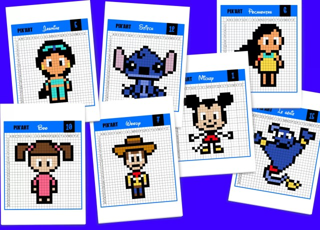 29 modèles de Pixel Art Disney à télécharger gratuitement - Un
