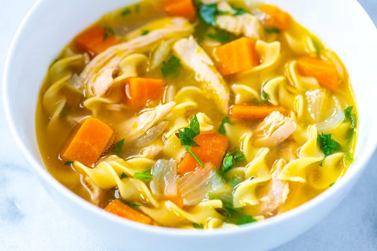 Chicken noodle soup symbol of the song