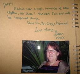 Dean Words in Daryls Memorial book