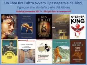 Rassegna Nov 2017 i libri più letti e commentati Un Libro