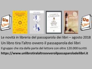 Le novità in libreria del passaparola dei libri agosto 2018 Recensioni UnLibto