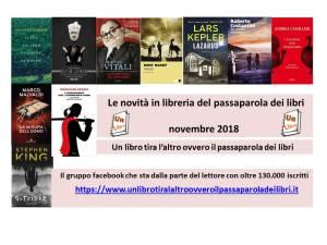 novità in libreria novembre 2018 Recensioni e News un libro