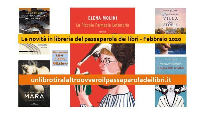 Le novità in libreria del passaparola dei libri Febbraio 2020