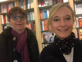 Laura Fedigatti e Alberta Maffi della Libreria Le mille e una pagina di Mortara