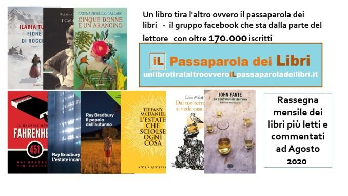 Rassegna dei libri più letti e commentati Agosto 2020