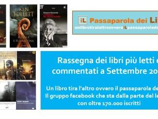 Rassegna mensile libri più letti settembre 2020