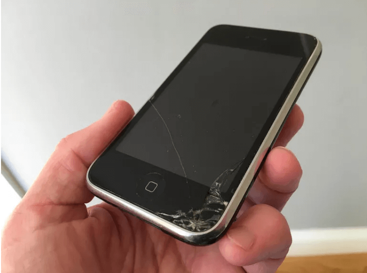 busted-up screen