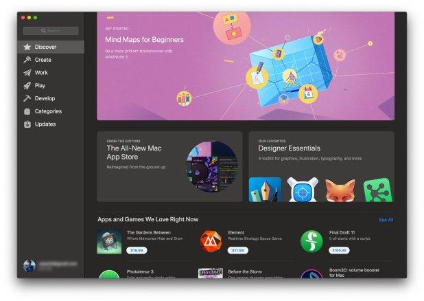 macOS Mojave-Mac App Store