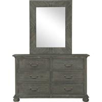 Magnussen Cheswick Panel Bedroom Set in Washed Linen Grey