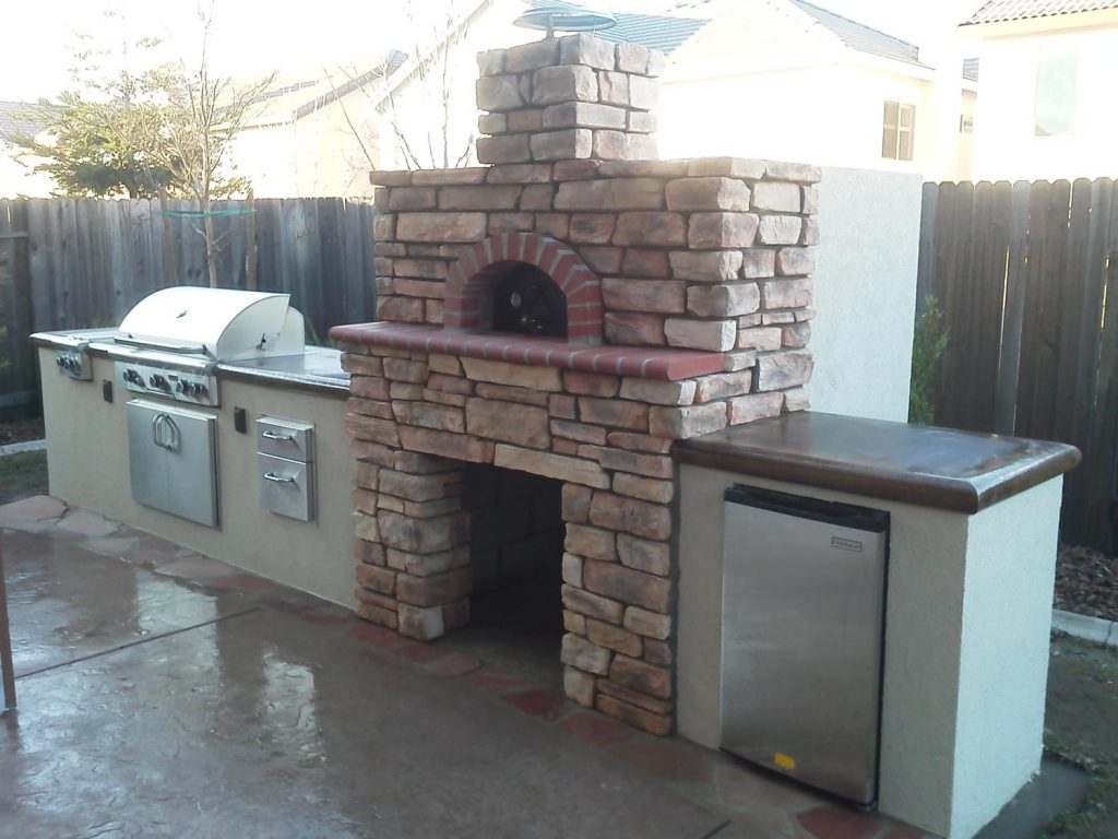 outdoor kitchen oven amazon set pizza ovens and bbq smokers in san jose ca