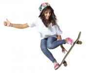 http://www.dreamstime.com/royalty-free-stock-photos-skateboarder-woman-jumping-showing-thumbs-up-image25238888