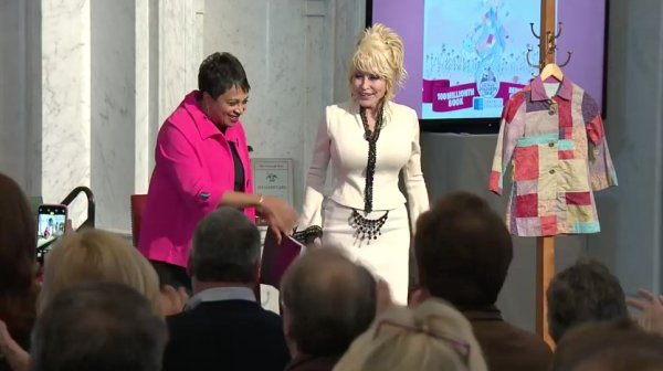Librarian of Congress, Carla Hayden and Dolly Parton