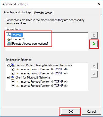 Huawei Modem Adapter Binding Settings in Windows 10