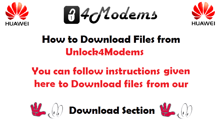 how to download firmware files from Unlock4Modems.com