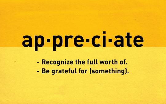 appreciate unlocking the growth