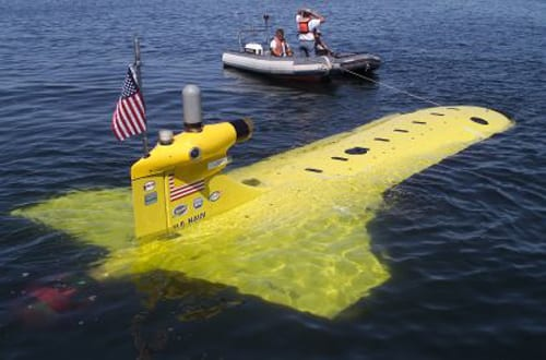 US Navy unmanned underwater vehicle