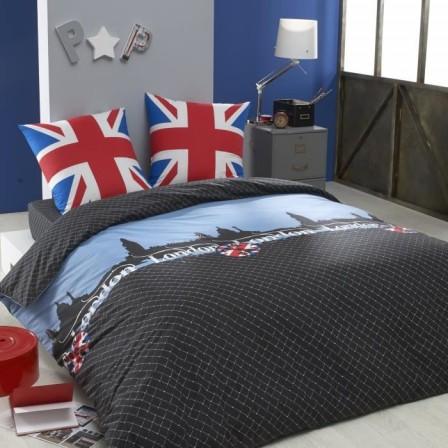Housse De Couette Londres London Linge De Lit Londres Parure De Couette Londres Pour Enfant Ado Adulescent Junior Adultes Un Max D Idees