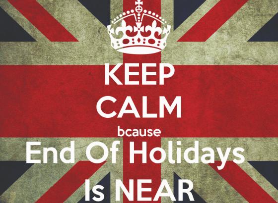 Mantieni al calma, il rientro dalle vacanze si avvicina!
