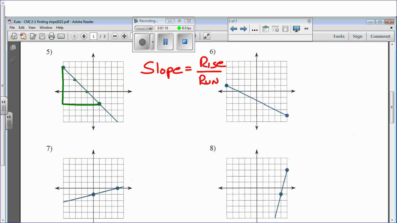 Finding Slope From A Graph Worksheet Free Worksheets