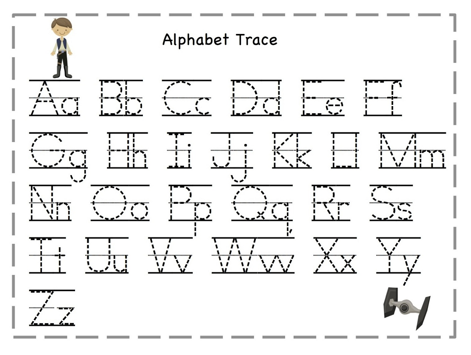 Alphabet Trace Worksheets