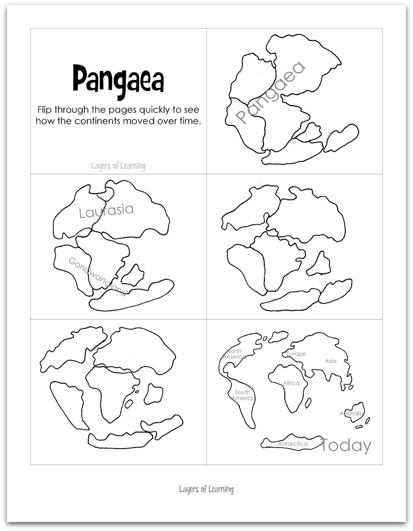 Continental Drift Puzzle Worksheets