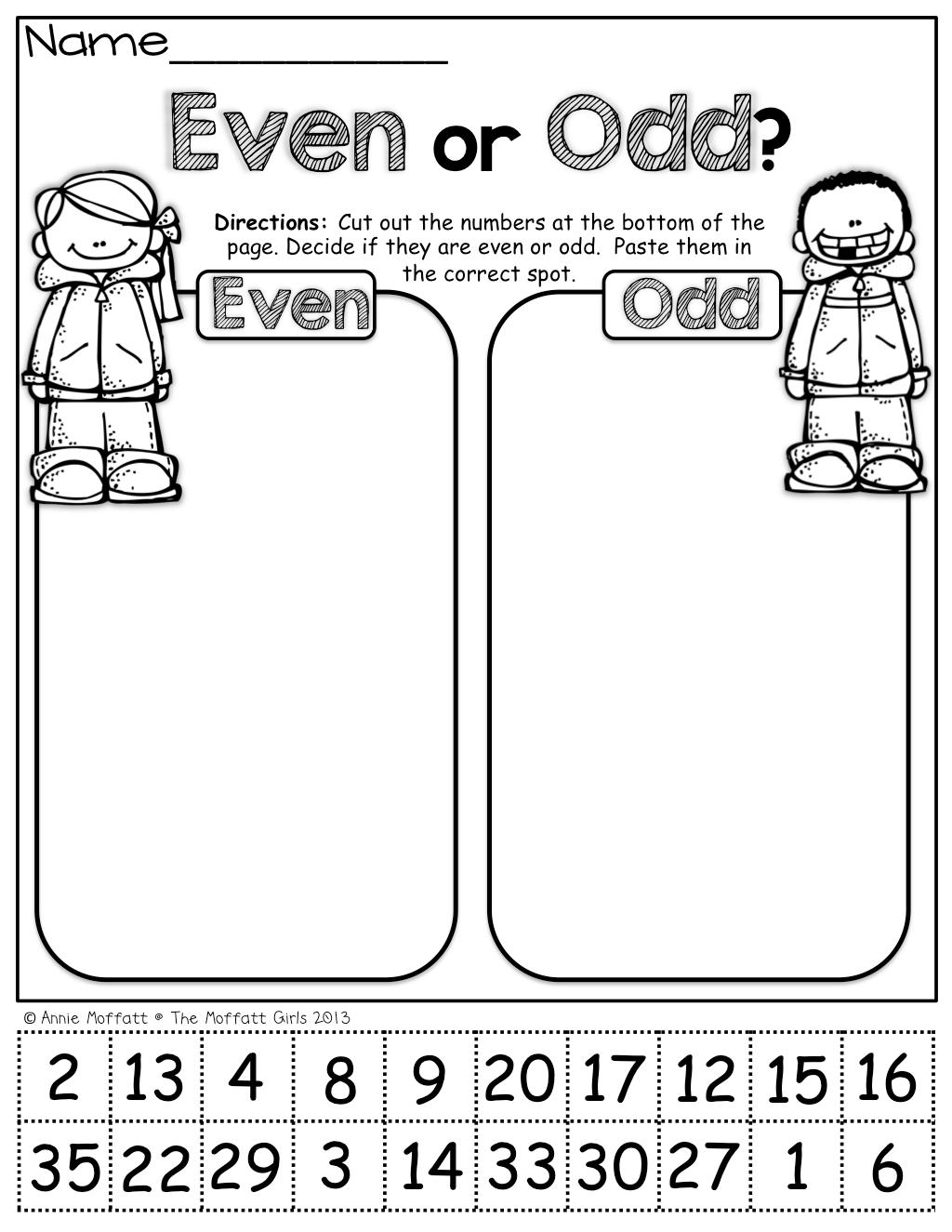 Even Odd Worksheets For Second Grade