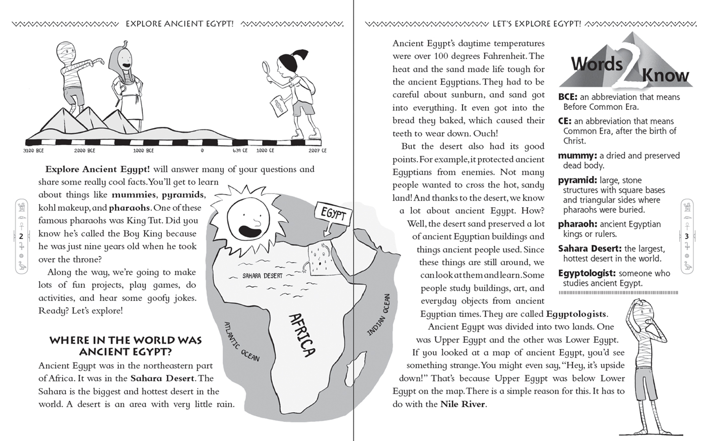 Ancient Egypt Worksheets For Kids