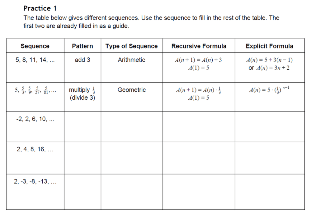 medium resolution of 34 Arithmetic And Geometric Sequences Worksheet - Worksheet Resource Plans