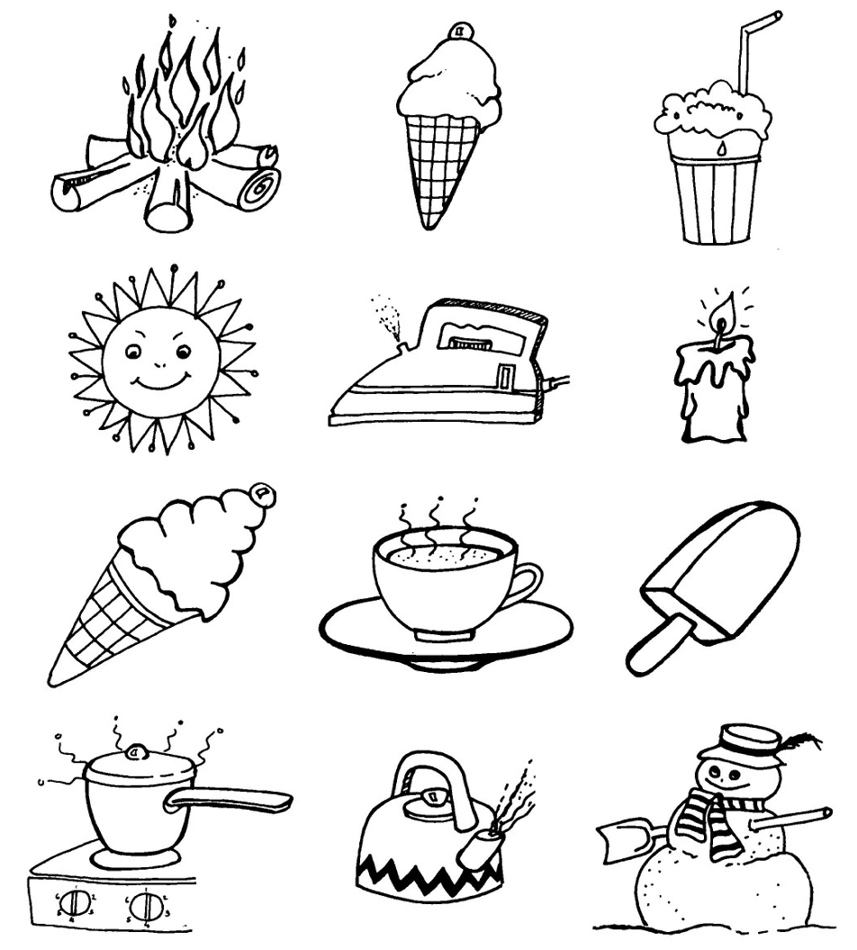 Hot And Cold Worksheets For Preschool