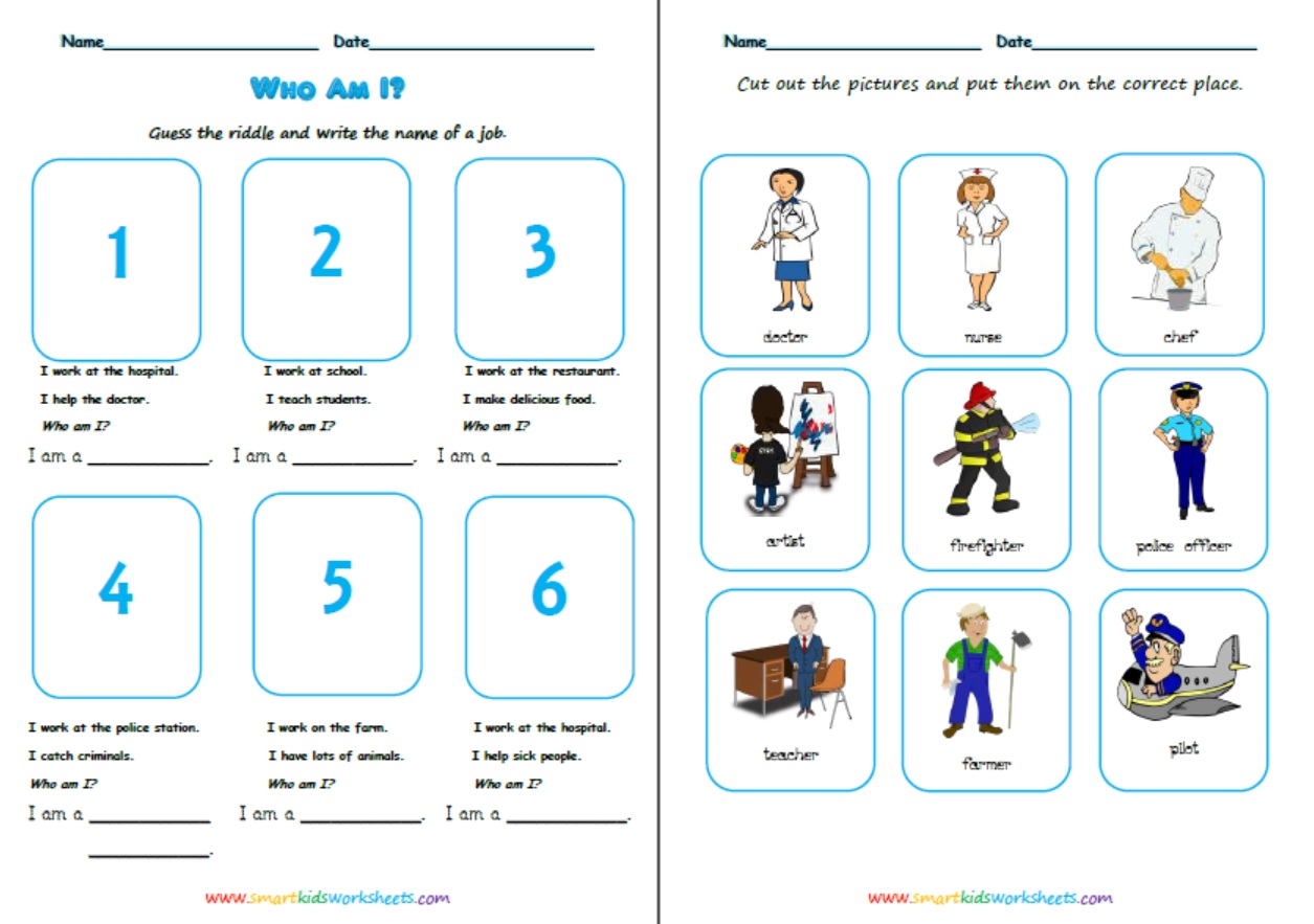 Occupations Worksheets
