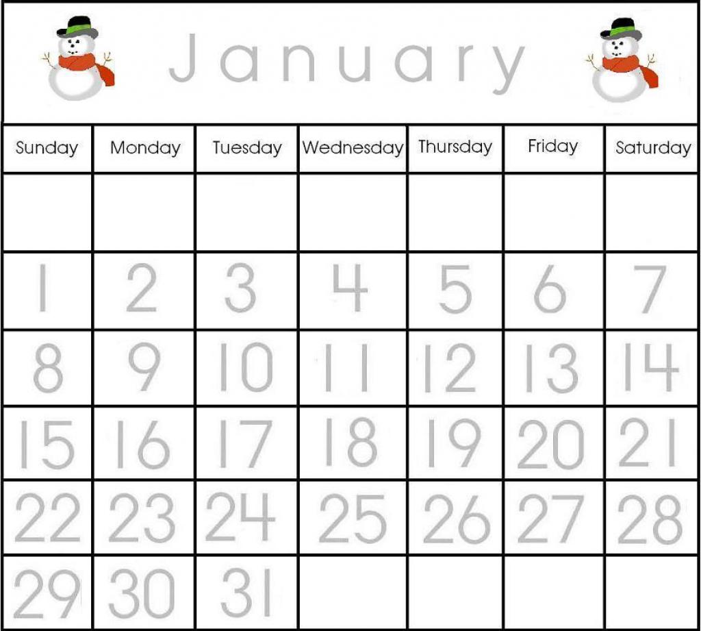 Calendar Worksheets For Kids