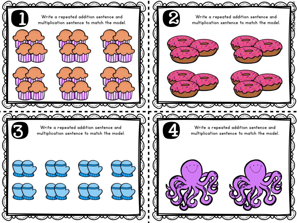 Multiplication Sentences Worksheets