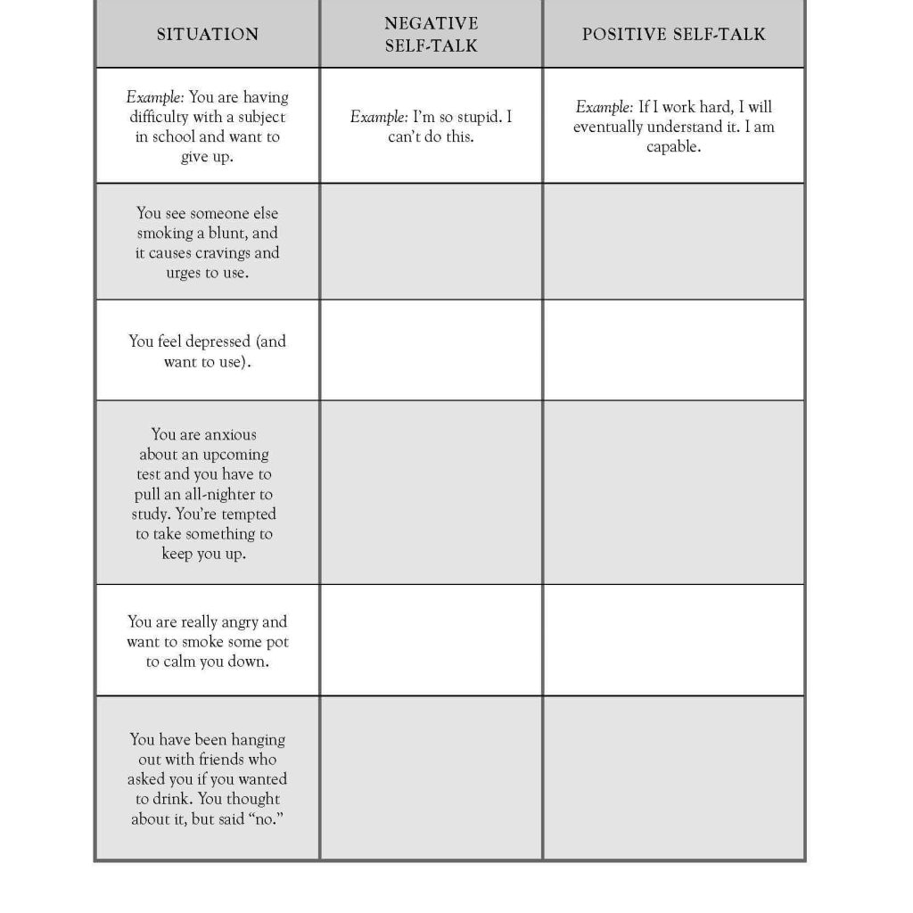 Drug Free Worksheets