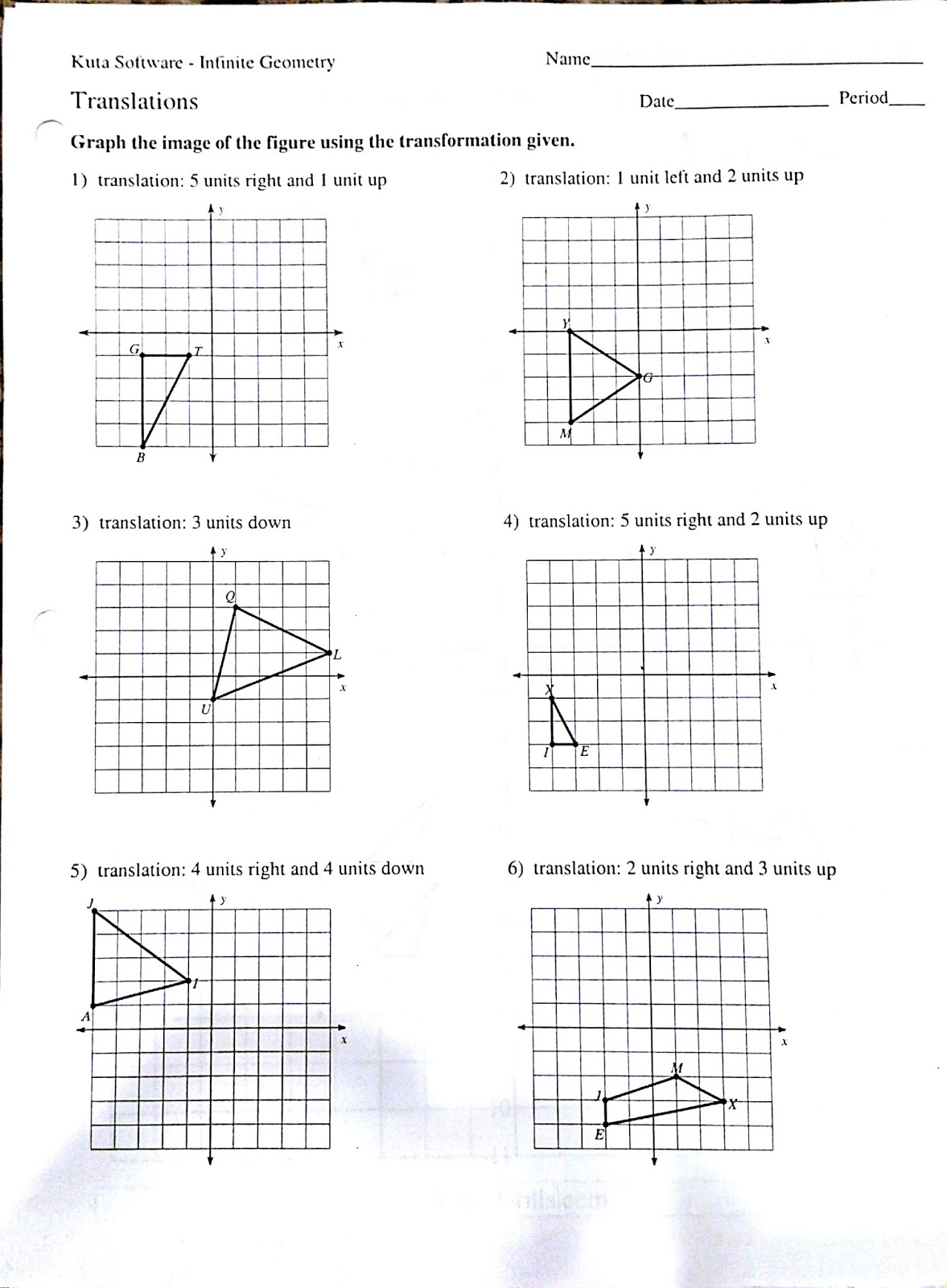 Transformations Worksheets 8th Grade Free Worksheets