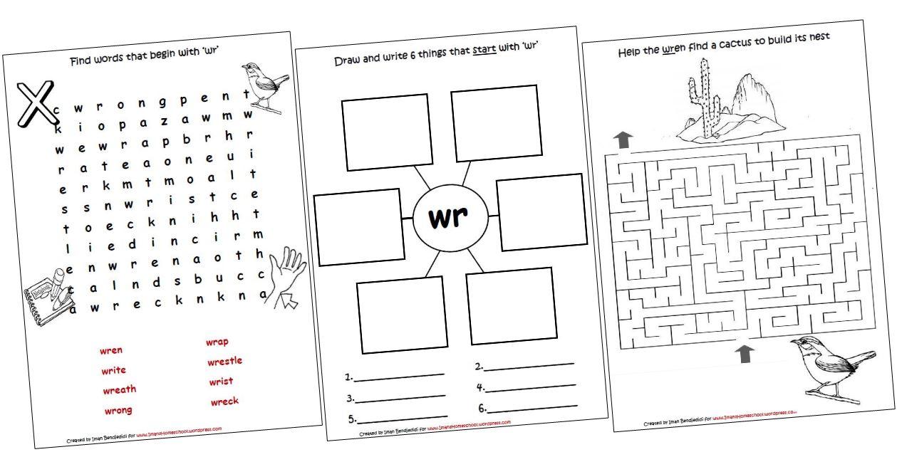 Wh Phonics Worksheets
