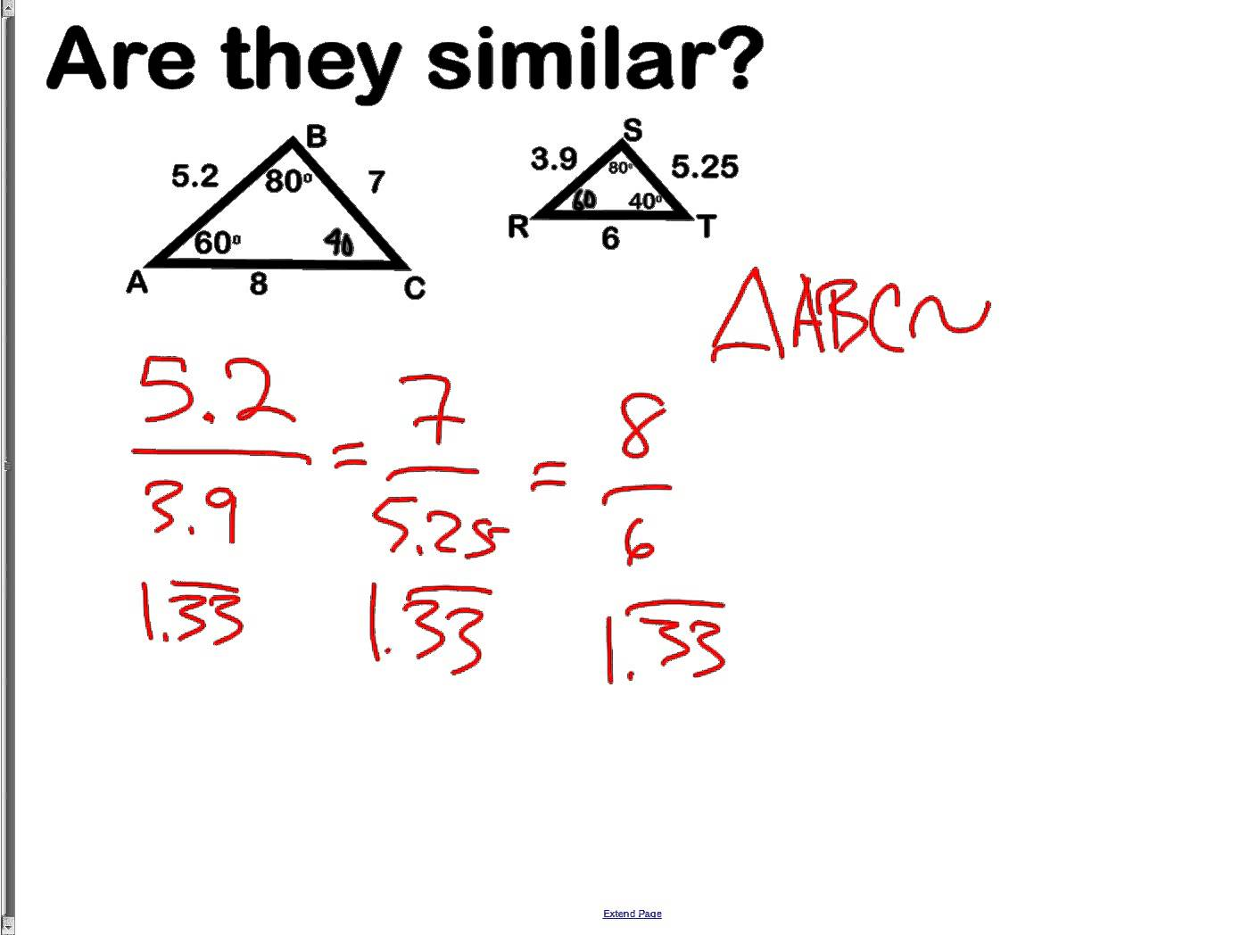 Similar Polygons Worksheets Answers
