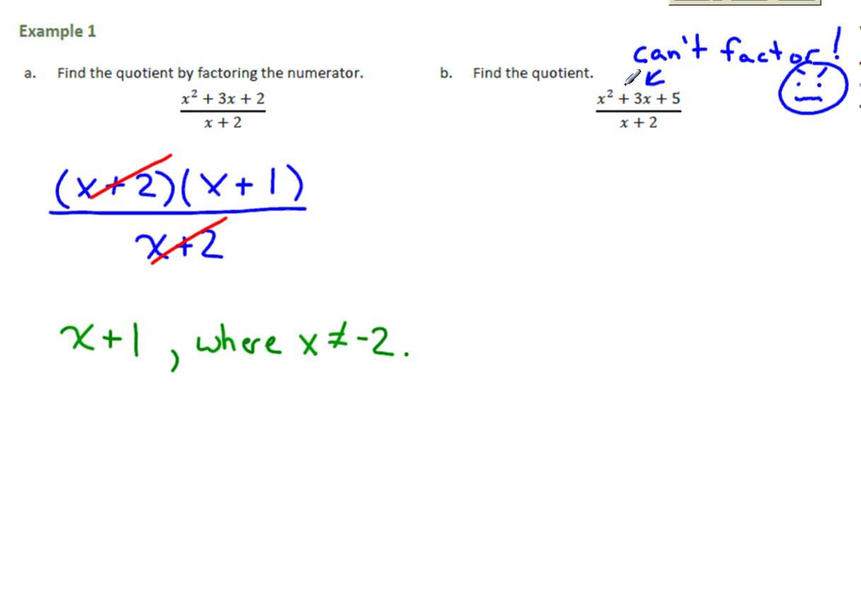 Common Core Algebra 2 Module 1 Lesson 18 Worksheets Samples
