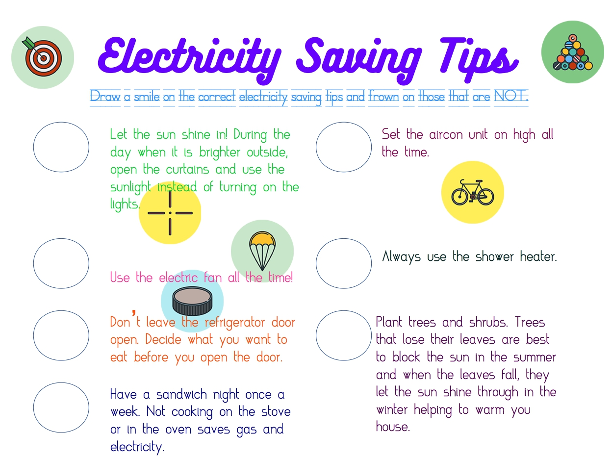 Free Electricity Worksheets
