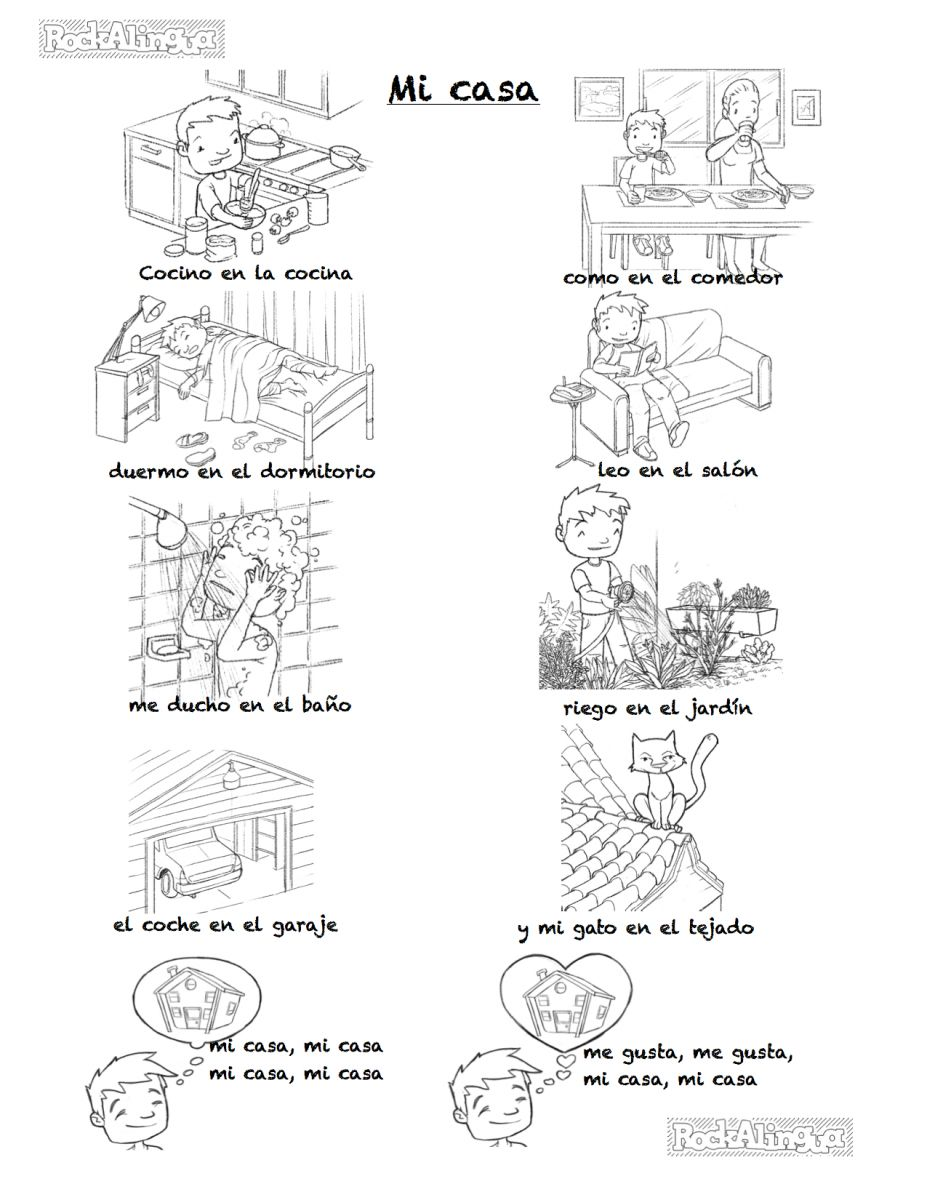 Parts Of The House In Spanish Worksheets