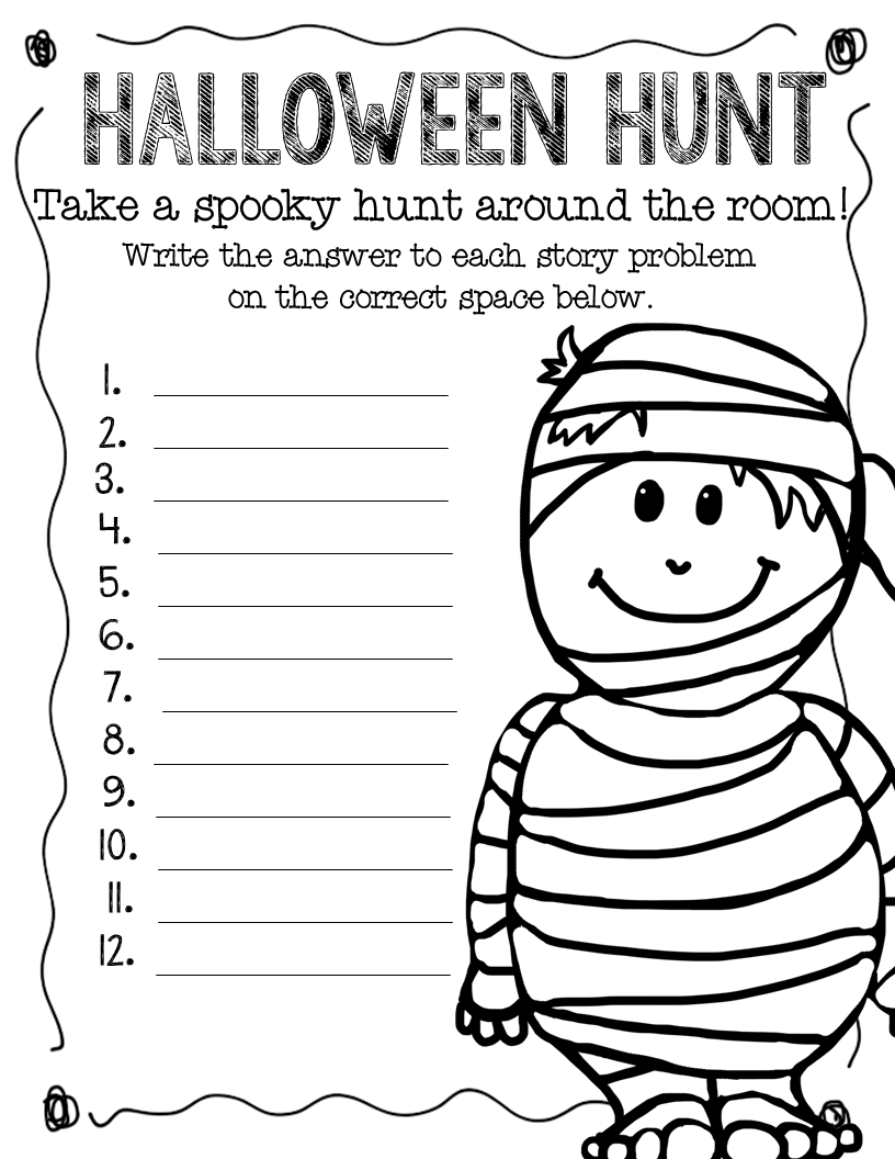5th Grade Halloween Math Worksheets