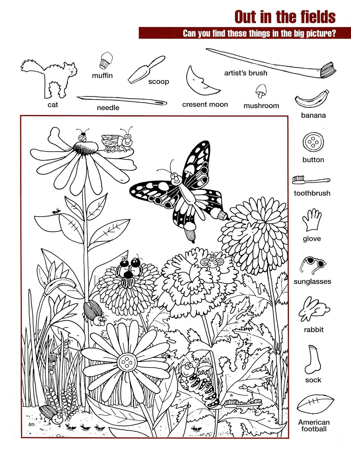Find The Hidden Pictures Worksheets