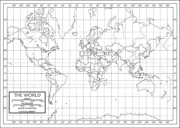 World Map Latitude And Longitude Worksheets