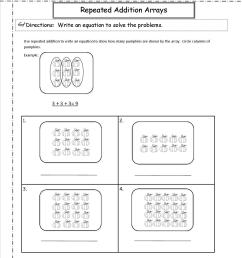 Arrays Repeated Addition Worksheet   Printable Worksheets and Activities  for Teachers [ 1650 x 1275 Pixel ]