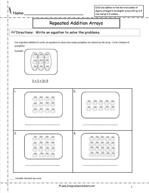 small resolution of Arrays Repeated Addition Worksheet   Printable Worksheets and Activities  for Teachers
