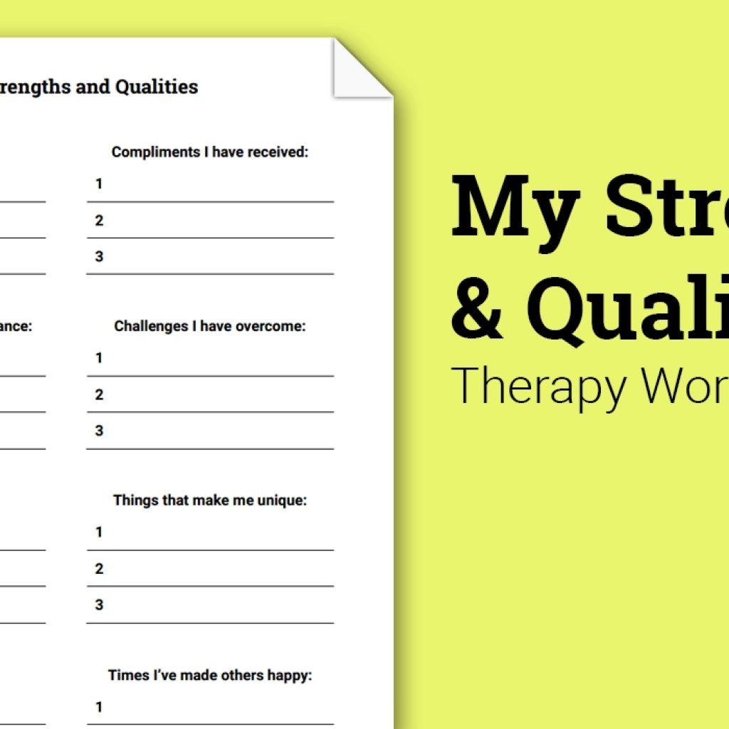 My Qualities Worksheets
