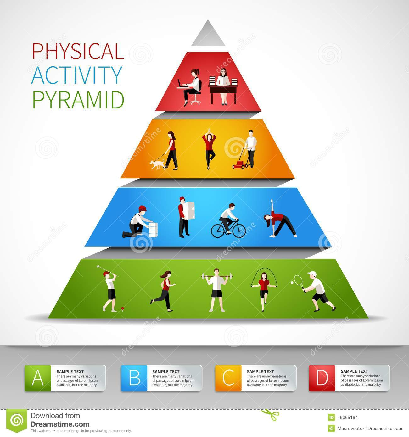 Physical Activity Pyramid Worksheets